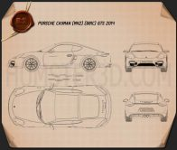 Porsche Cayman GTS 2014 Blueprint