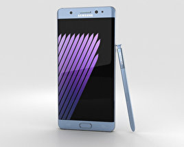 3D model of Samsung Galaxy Note 7 Blue Coral