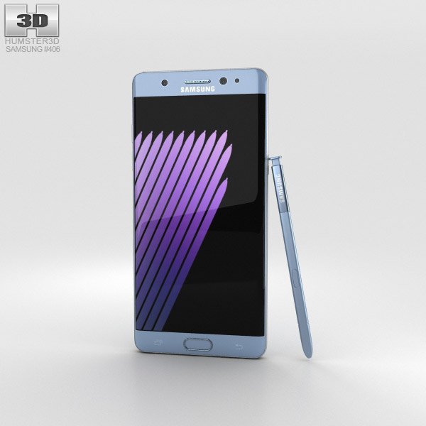 Samsung Galaxy Note 7 Blue Coral 3D model