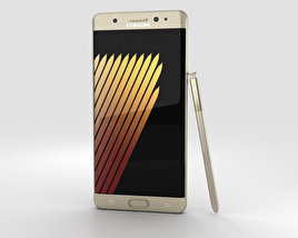 3D model of Samsung Galaxy Note 7 Gold Platinum
