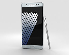 3D model of Samsung Galaxy Note 7 Silver Titanium