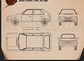 Skoda Favorit 1988 Blueprint