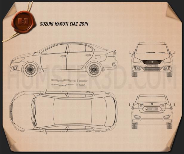 Suzuki (Maruti) Ciaz 2014 Blueprint