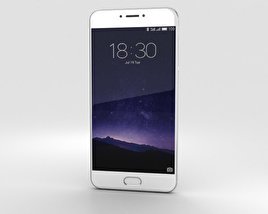 3D model of Meizu MX6 Silver
