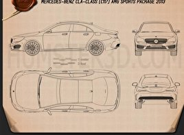 Mercedes-Benz CLA AMG Sports Package 2013 Blueprint