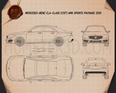 Mercedes-Benz CLA AMG Sports Package 2013 Blueprint