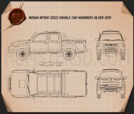 Nissan Navara (NP300) Double Cab Hardbody Silver 2013 Blueprint