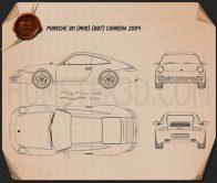 Porsche 911 Carrera (997) 2005 Blueprint
