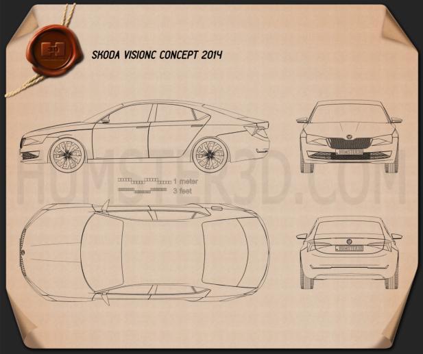Skoda VisionC 2014 Blueprint
