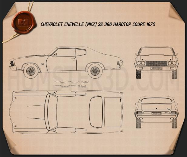Chevrolet Chevelle SS 396 hardtop coupe 1970 Blueprint
