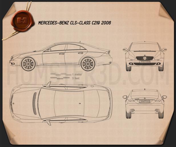 Mercedes-Benz CLS-class (C219) 2006 Disegno Tecnico