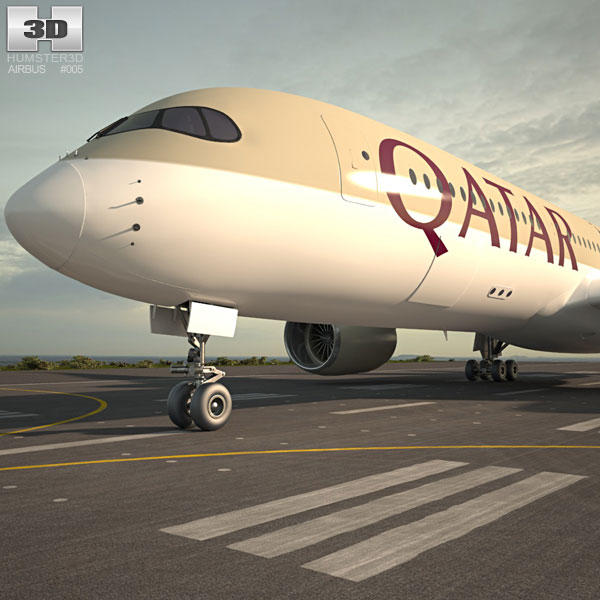 3D model of Airbus A350-900