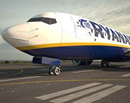 3D model of Boeing 737-800