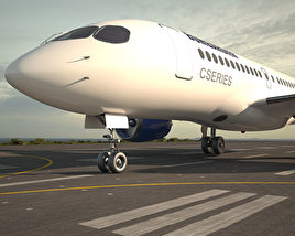 3D model of Bombardier CS100