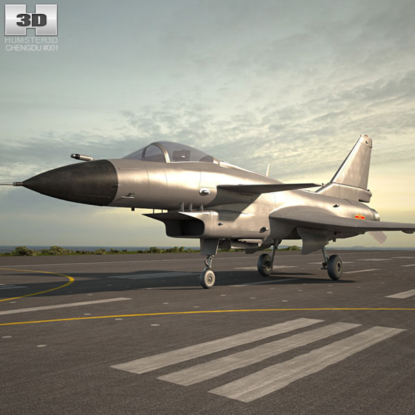 3D model of Chengdu J-10