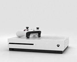 Microsoft Xbox One S 3D model