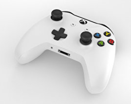 3D model of Microsoft Xbox One S Controller