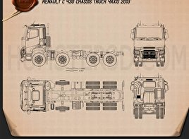 Renault C Chassis Truck 2013 Blueprint