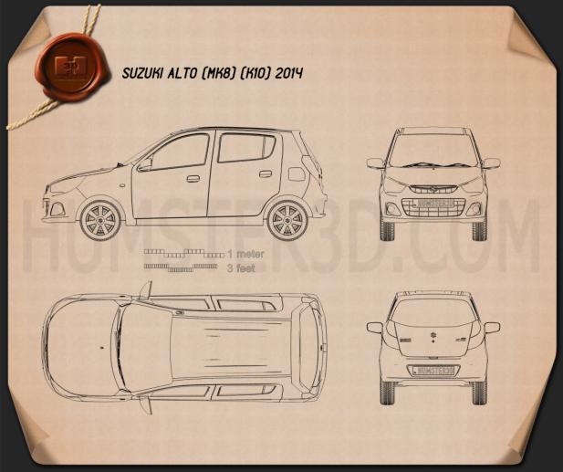 Suzuki Alto K10 2014 Blueprint