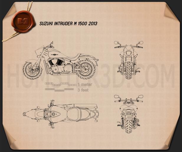 Suzuki Intruder M1500 2013 Blueprint