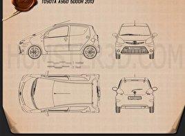 Toyota Aygo 5-door 2013 Blueprint