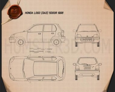 Honda Logo (GA3) 5-door 1996 Blueprint
