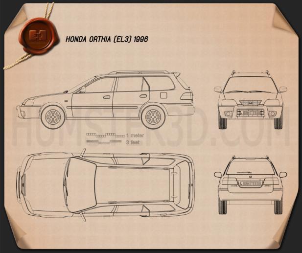 Honda Orthia (EL3) 1996 Blueprint