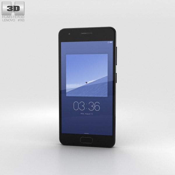 3D model of Lenovo ZUK Z2 Titanium Black