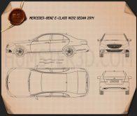 Mercedes-Benz E-class (W212) sedan 2014 Blueprint