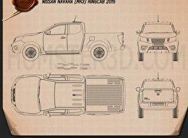 Nissan Navara King Cab 2015 Blueprint