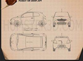 Peugeot 108 3-door 2014 Blueprint