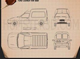 Ford Courier Van UK 1999 Blueprint