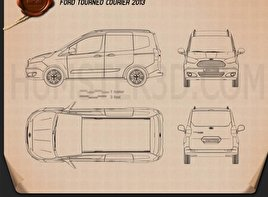 Ford Tourneo Courier 2013 Blueprint
