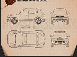 Volkswagen Taigun 2012 Blueprint