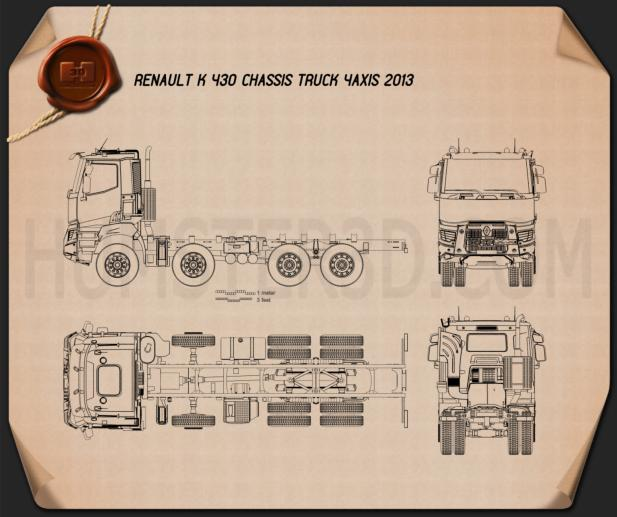 Renault K 430 Chassis Truck 2013 Blueprint