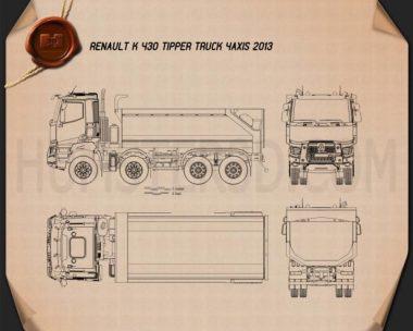 Renault K 430 Tipper Truck 2013 Blueprint
