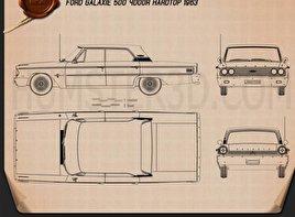 Ford Galaxie 500 hardtop 1963 Blueprint