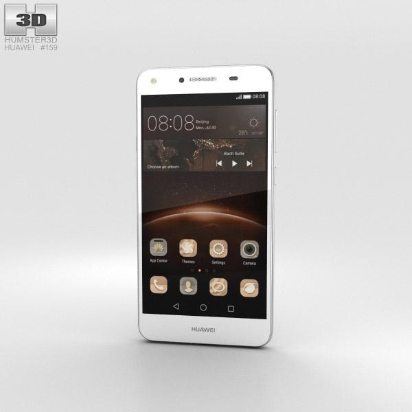 Huawei Y5II Arctic White 3D模型