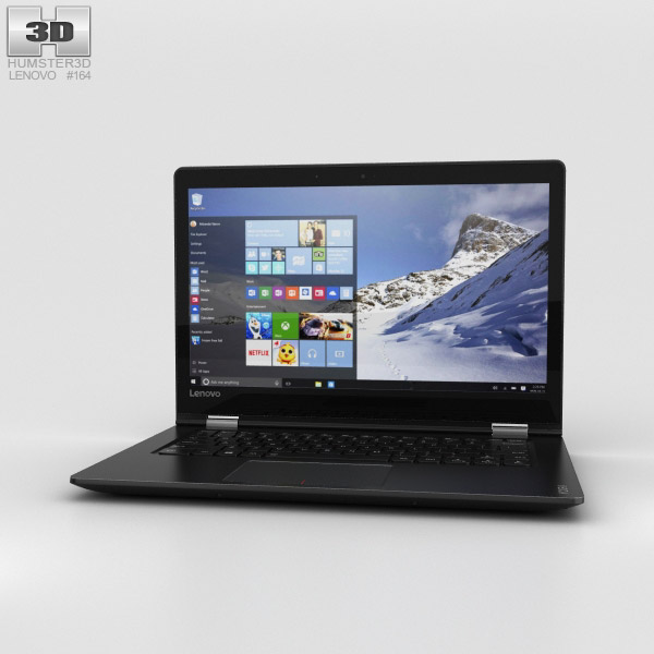 Lenovo Yoga 510 Black 3D model