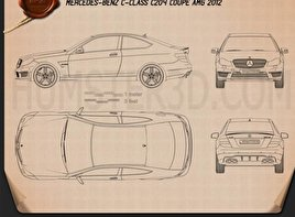 Mercedes-Benz C-Class 63 AMG coupe 2012 Blueprint