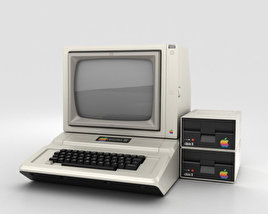 3D model of Apple II Computer