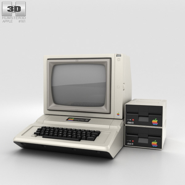 Apple II Computer 3D model