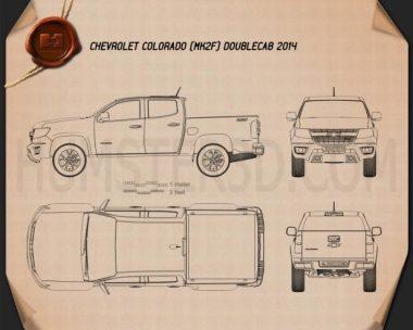 Chevrolet Colorado Double Cab 2014 Blueprint