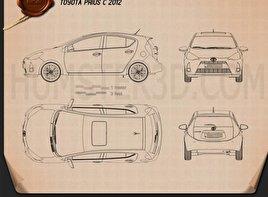 Toyota Prius C (Aqua) 2012 Blueprint