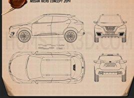 Nissan Kicks 2014 Blueprint