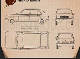 Peugeot 104 1976 Blueprint