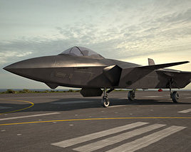 3D model of Chengdu J-20