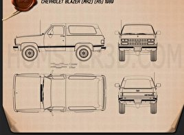 Chevrolet Blazer (K5) 1989 Blueprint