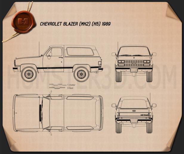 Chevrolet Blazer (K5) 1989 Blueprint