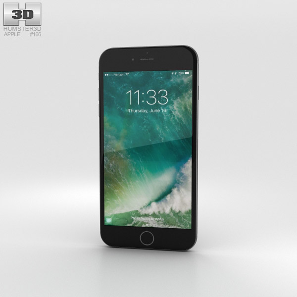 Apple iPhone 7 Plus Black 3D model